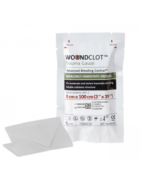 WoundClot Trauma Gauze (8cm x 100cm)