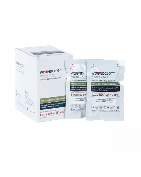 WoundClot Trauma Gauze (8cm x 100cm) Box of 10